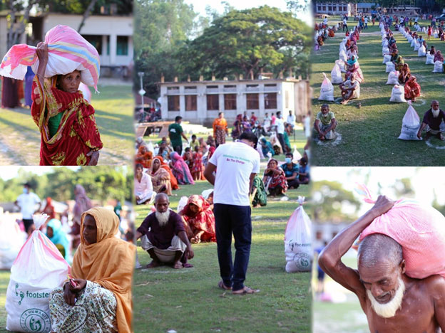 food relief with footsteps bangladesh